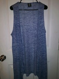 Womens blue over lay vest. Size: One size fits all