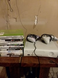 white Xbox 360 console with 2 controllers  Houghton Lake, 48629