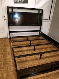 Nice modern wooden Queen bed frame in good condition. Annandale, 22003