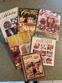 Set of six different Christmas cookbooks.  $10.00 for all.