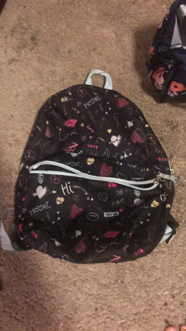 ffa3ad9f5dd Used black and pink leather backpack for sale in Atlanta - letgo