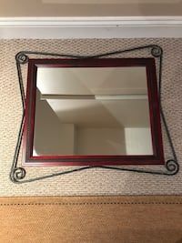 Mirror with iron framing 26 inches across 23 inches in length Laurel, 20723