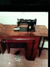black and brown treadle sewing machine Ashley, 18706