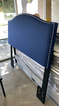 New,????Rest Haven Upholstered Diamond Tufted Mid Rise Headboard, Queen,