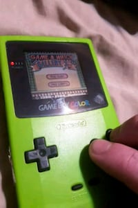 Gameboy color  W/ game - Lime, game&watch galley 3