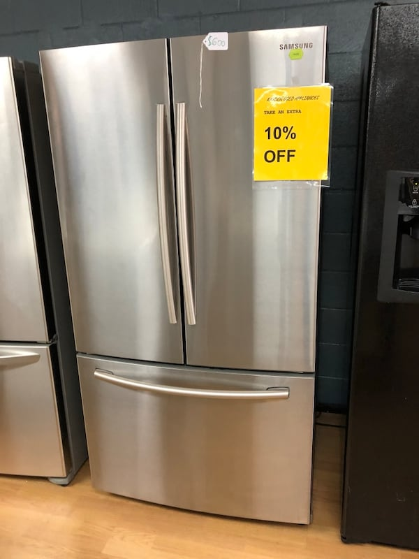 Samsung stainless steel French door refrigerator  be3b2b55-8df0-4613-adfe-c6293dcd187b