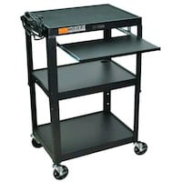 NEW luxor adjustable height steel cart with keyboa Mississauga, L5E 1G6