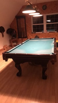 blue and brown pool table 488 mi