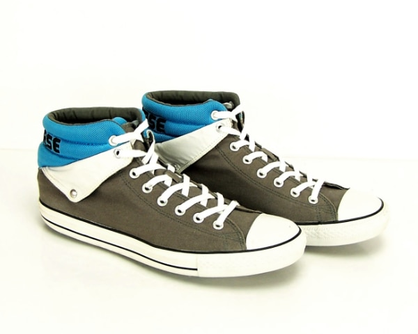CONVERSE Chuck Taylor Men's Size 12 CT PC PEEL BACK MID IN CHARCOAL Blue Padd
