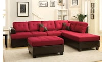 red and black sectional couch Austin