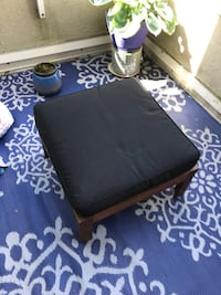 IKEA outdoor foot stool with cushion Vancouver, V6E 1H4