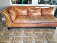 brown leather 2-seat sofa Perris, 92571
