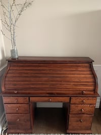 Roll top desk and matching cabinet