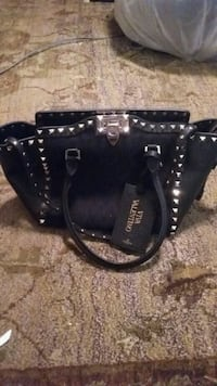 black leather valentino studed 2-way bag San Jose, 95118