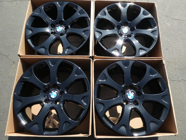 Used New 19 Oem Bmw X5 Factory Wheels Inch Gloss Black Rims For In Santa Ana
