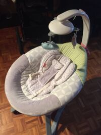 baby's white and gray cradle and swing Mississauga, L5B 4G7