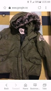 black and brown parka jacket Toronto, M8Y 3H8