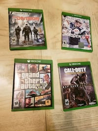 four Xbox One games Los Angeles, 90033