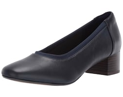 Women Clarks Chartli Fame Block Heel 6M US Shoes