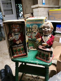 2 bartender toys w/1 box from the 1950's (for parts) Merrick, 11566