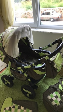 Adamex young jeep stroller 3 in one 0 to 6 years old cot and stroller 8a05f0d9-8578-44b1-8b12-297e8801d4aa