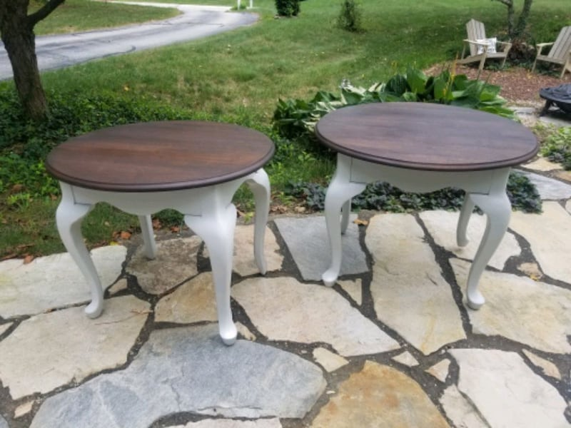 Rustic refinished side tables. a9d23ba2-1216-4923-a7ca-0f797d3fd68b