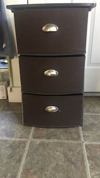 black wooden 3-drawer chest Portland