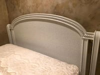 Beautiful White Bed Frame Basket Weeve Headboard Clinton, 08809
