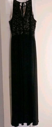 Black and nude evening gown Charlotte