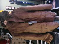 New suede italian coat with hood. Langley Township, V2Z 1S6
