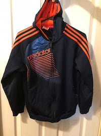 Black and red adidas zip-up jacket Maple Ridge, V2X 0R3
