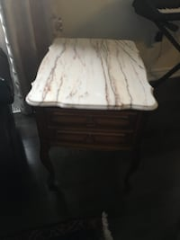 square white and brown wooden side table New Tecumseth, L9R