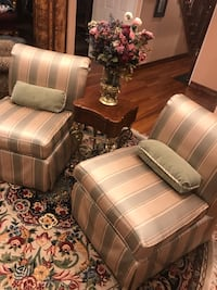Two comforter chairs with stand and flowers all for $300 Roslyn Heights, 11577