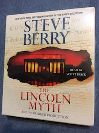 The Lincoln myth, AUDIO BOOK by Steve Berry, 12 cds NEW