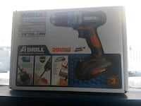 black and yellow Dewalt cordless hand drill with box Calgary, T2K 0W6