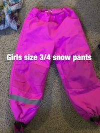 H&M Girls size 3/4 snow pants worn once  Jacksonville, 28546