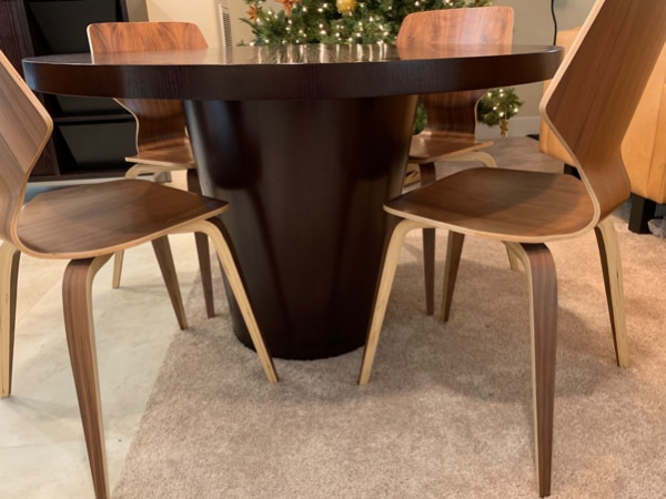 """Crate & Barrel """"Orion"""" Dining Room Table"""