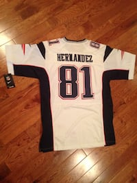 white and black Hernandez 81 jersey shirt