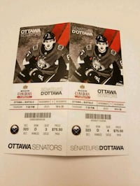 2 Sens tickets*** November 1st Ottawa, K4A 3W6