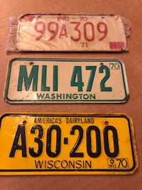 Miniature License plates 1970 and 71