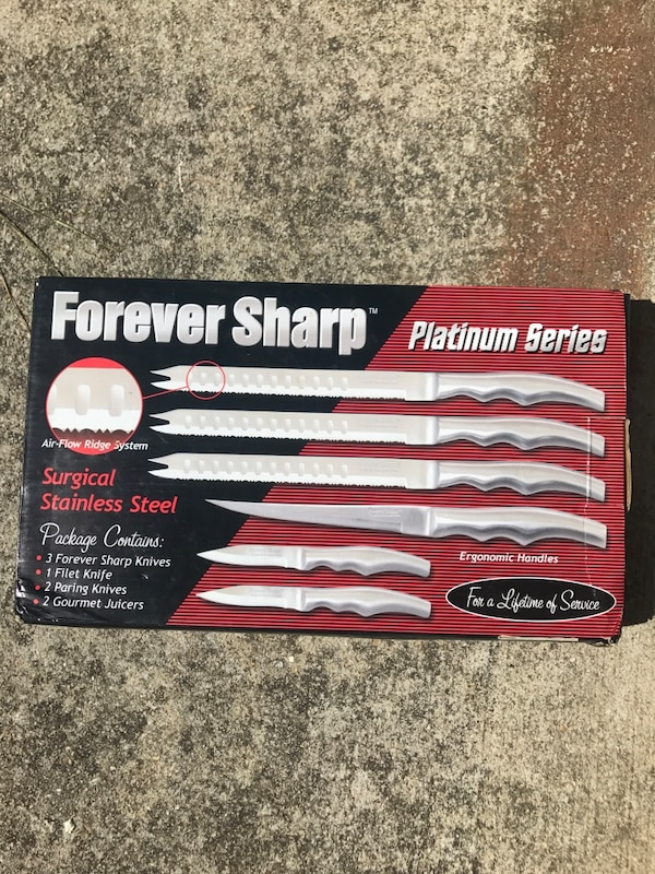 Used Forever Sharp Platinum Series Knife Set Box For Sale In Lilburn