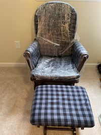Rocking chair with ottoman Clinton, 20735
