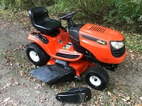 """Lawn tractor mower fully serviced excellent condition 19hp Briggs 46"""" deck w/ mulching kit Columbia Station, 44028"""