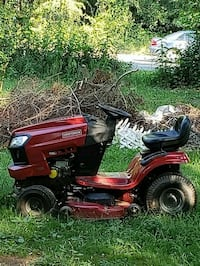 red and black riding mower Catonsville, 21228