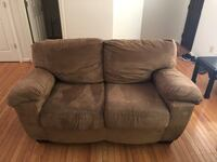 Brown suede 2-seat sofa Alexandria, 22309