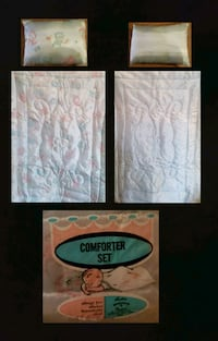 Vintage Rosebud Baby Comforter Set by Marcus Brothers - New.  Queens, 11106