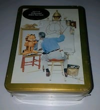 NORMAN ROCKWELL and GARFIELD note cards in collectible metal box Spruce Grove, T7X 3A8