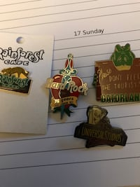 Collectors Pins From Different Places 4 Of Them Brooklyn, 21225