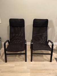 High back black chairs  (set of 2)