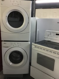 """SET 27"""" WHIRLPOOL ACCUDRY FRONT LOAD WHITE تورونتو"""